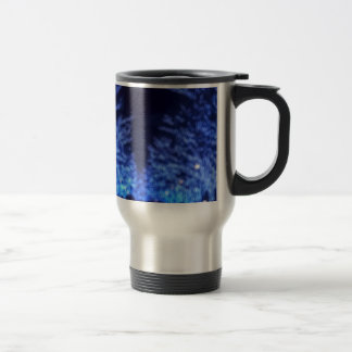 Blurry Winter Illumination Travel Mug
