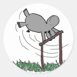 Blurtso swings classic round sticker