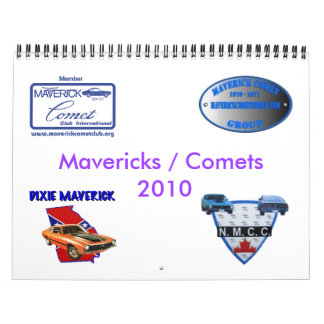 blu's Mavericks and Comets 2010 calendar
