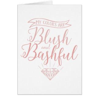 Blush and bashful card