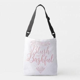 Blush and bashful crossbody bag