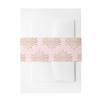 Blush and Gold Belly Band Invitation Belly Band