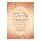 Blush and Gold - Elegant Floral Vintage Wedding Card