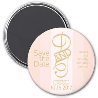 Blush and Gold Save the Date Magnet