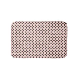 Blush and Gray Polka Dot Bath Mat
