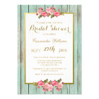 Blush and Mint - Bridal Shower Floral Invitation