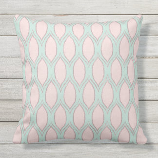Blush and Mint Modern Geometric Pattern Throw Pillow