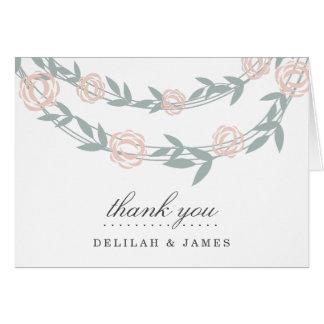 Blush and Sage Botanical Floral Wedding Card