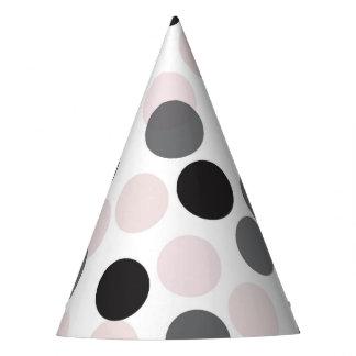 Blush & Black Festive Polka Dots Confetti Party Hat