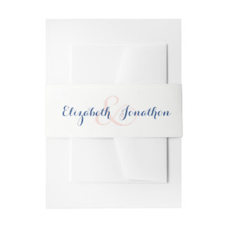 Blush Blossoms Invitation Belly Band