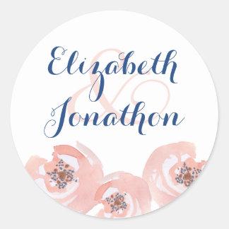Blush Blossoms Round Sticker