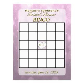 Blush Bokeh   Bingo Card Postcard