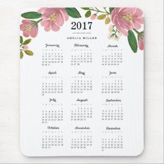 Blush Bouquet 2017 Calendar Mouse Pad