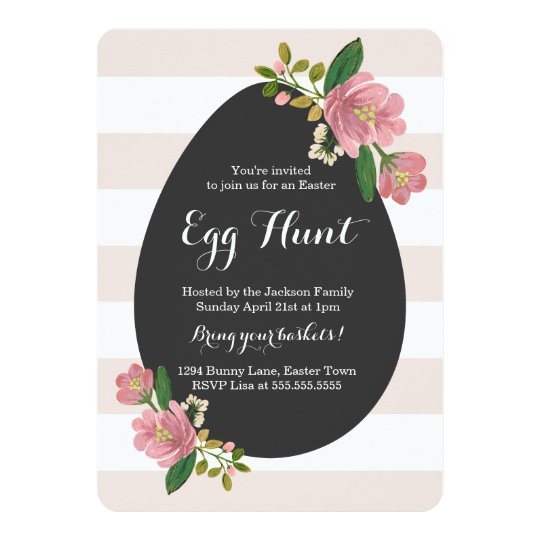 Blush Bouquet Egg Hunt Card