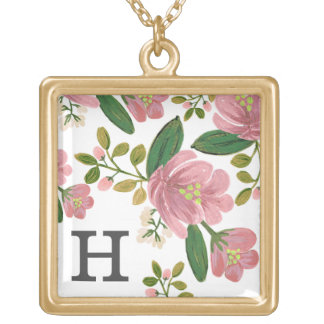 Blush Bouquet Gold Plated Necklace