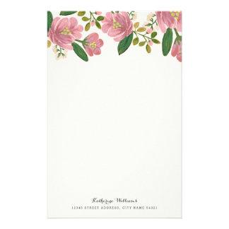 Blush Bouquet Personalized Stationery