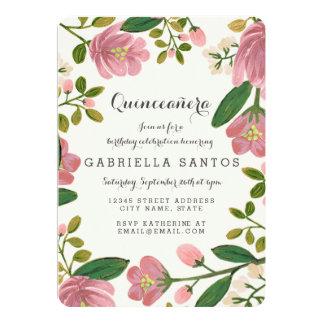 Blush Bouquet Quinceañera Card