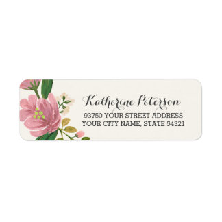 Blush Bouquet Return Address Label