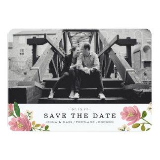 "Blush Bouquet Save the Date 5"" X 7"" Invitation Card"