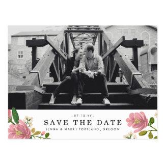 Blush Bouquet Save the Date Postcard