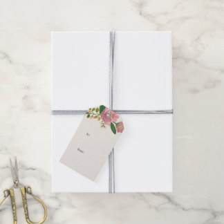 Blush Bouquet Thank You Gift Tags