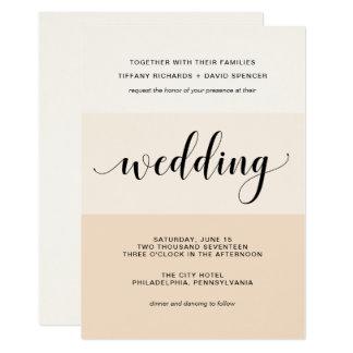 Blush Cascade | Subtle Stripes Wedding Card