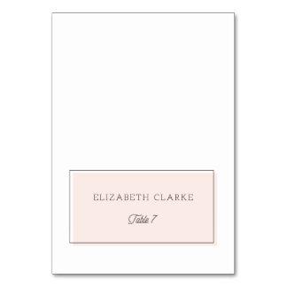 Blush Color Block Minimalist Place Card | Table 7