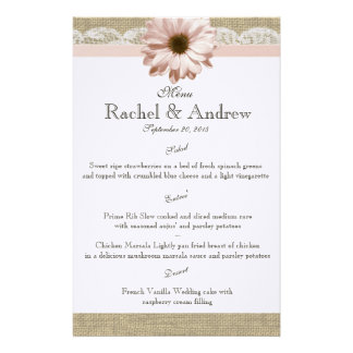 Blush Daisy Country Lace Menu