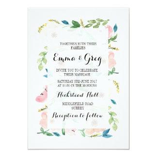 Blush Floral Anemone Invitation