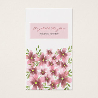 Blush Floral Business Cards