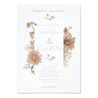 Blush Floral Christian Wedding Invitation