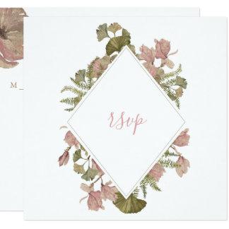 Blush Floral Christian Wedding RSVP Card