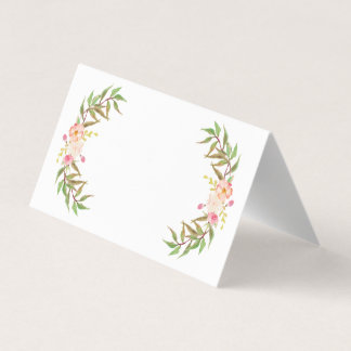 Blush Floral Greenery Wedding Place Cards