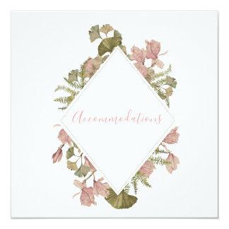 Blush Floral Wedding | Accommodations Card