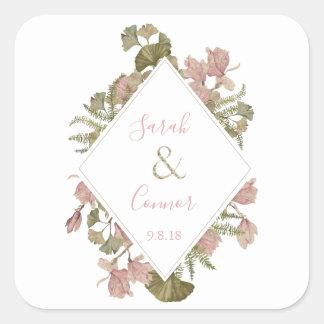 Blush Floral Wedding Collection | Envelope Seal