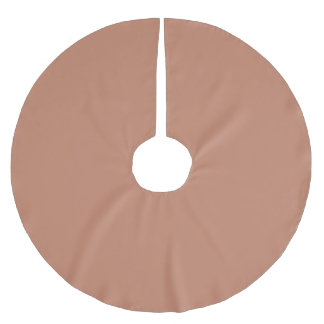 Blush Gold Copper Brown Brushed Polyester Tree Skirt