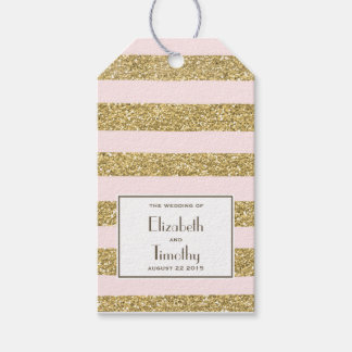 Blush Gold Glitter Favour Tags Pack Of Gift Tags