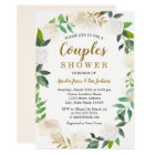 Blush Gold Watercolor Wreath Couples Shower Card