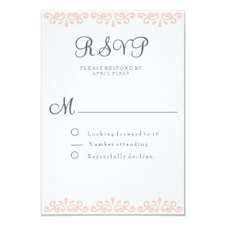 Blush Lace Elegant and Romantic RSVP card