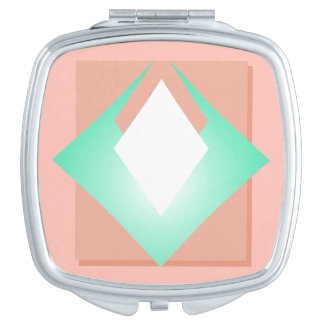 Blush Pastel Pink Peach Girly Trendy Chic Compact Mirrors