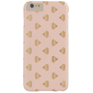 Blush/Peach and Gold Glitter Diamonds iPhone Case