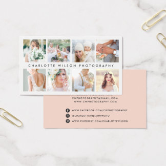 Blush Photo Collage | Photographer Business Card