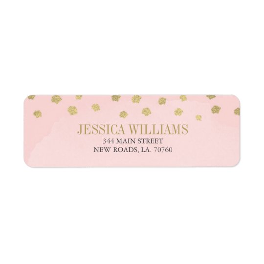 Blush Pink and Gold Luxury Graduation Labels