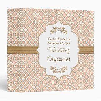 Blush Pink and Gold Moroccan Wedding Organizer 3 Ring Binder