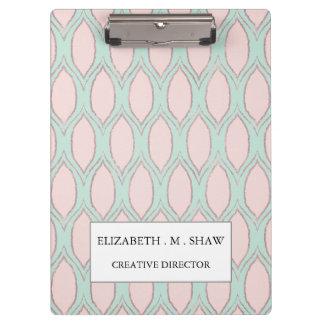 blush pink and mint Modern Geometric Pattern Clipboards