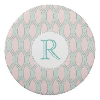 blush pink and mint Modern Geometric Pattern Eraser