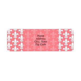 Blush Pink and White Fleur de Lis Pattern