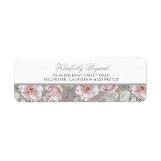 Blush Pink and White Floral Vintage
