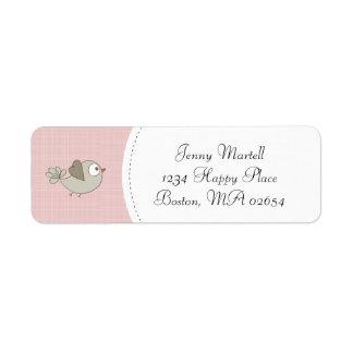 Blush Pink Baby Bird | Address