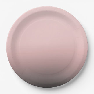Blush Pink & Black Ombre Modern Chic Wedding Paper Plate
